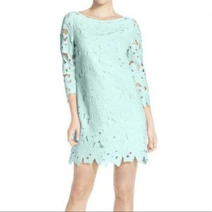 Felicity & Coco Turquoise Floral Lace Shift Dress